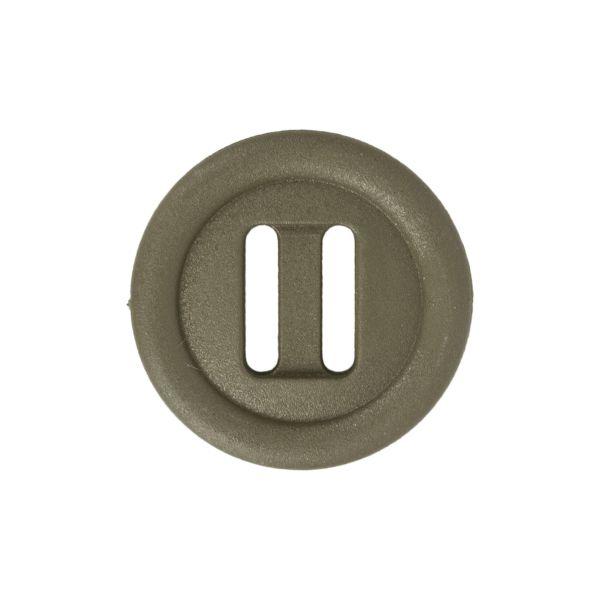Botón ITW Nexus de orificio alargado 25mm verde oliva