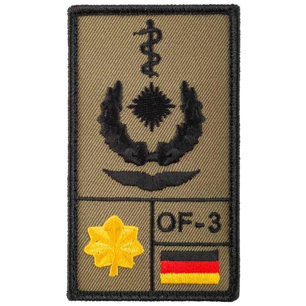 Parche de rango Café Viereck Oberstabsarzt Luftwaffe oliva
