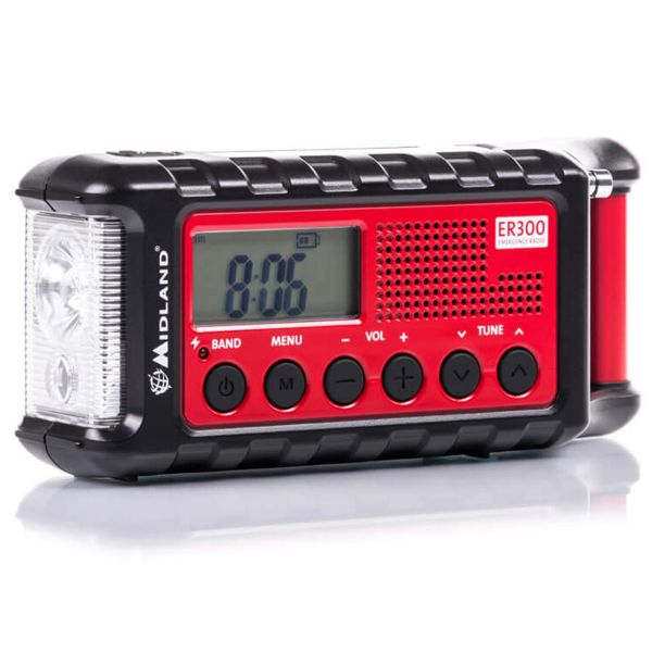 Midland ER 300 Outdoor radio manivela rojo