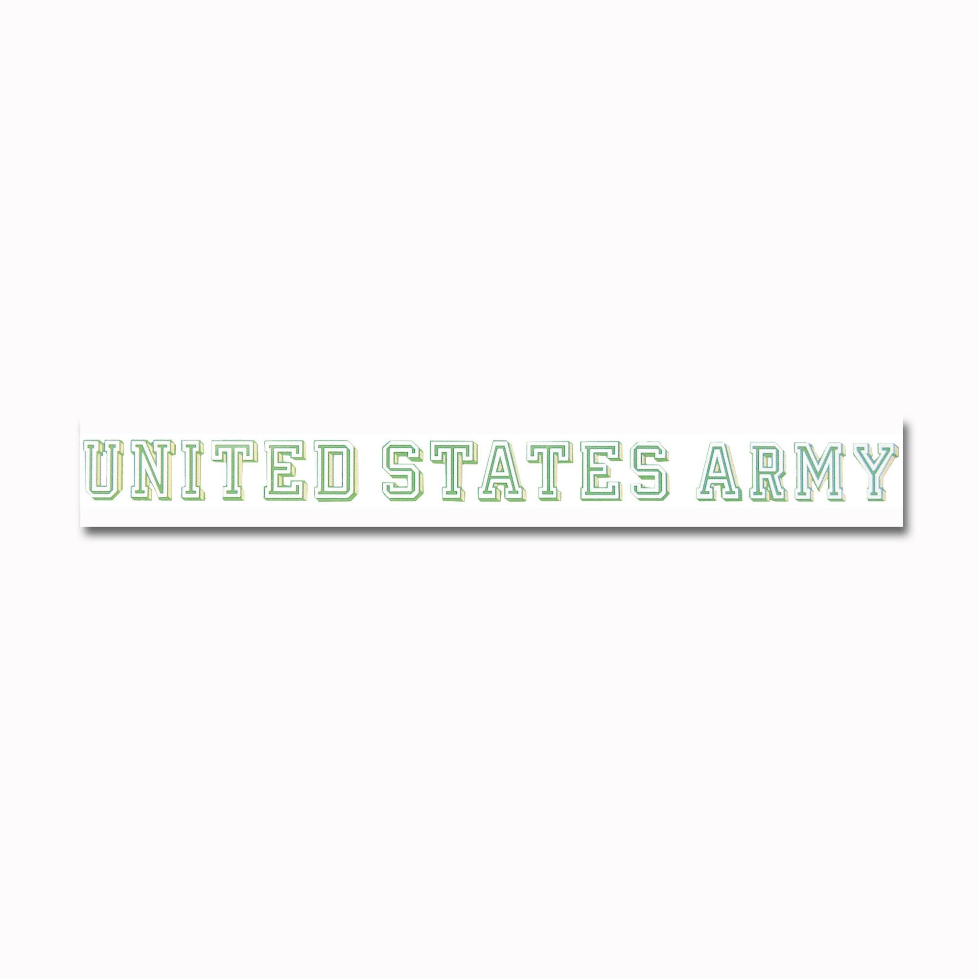 Pegatina de ventana UNITED STATES ARMY transparente