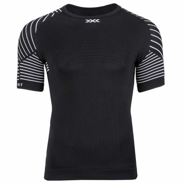 Camiseta X-Bionic Invent LT escote redondo negro blanco