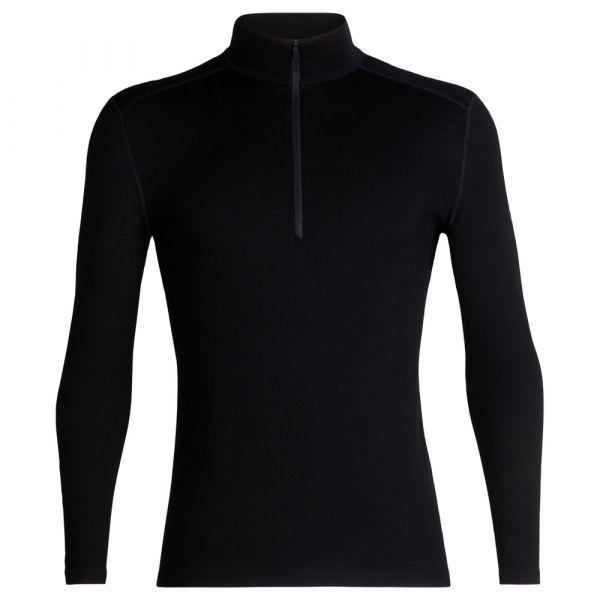 Camiseta Icebreaker Long Sleeve Tech Half Zip negra
