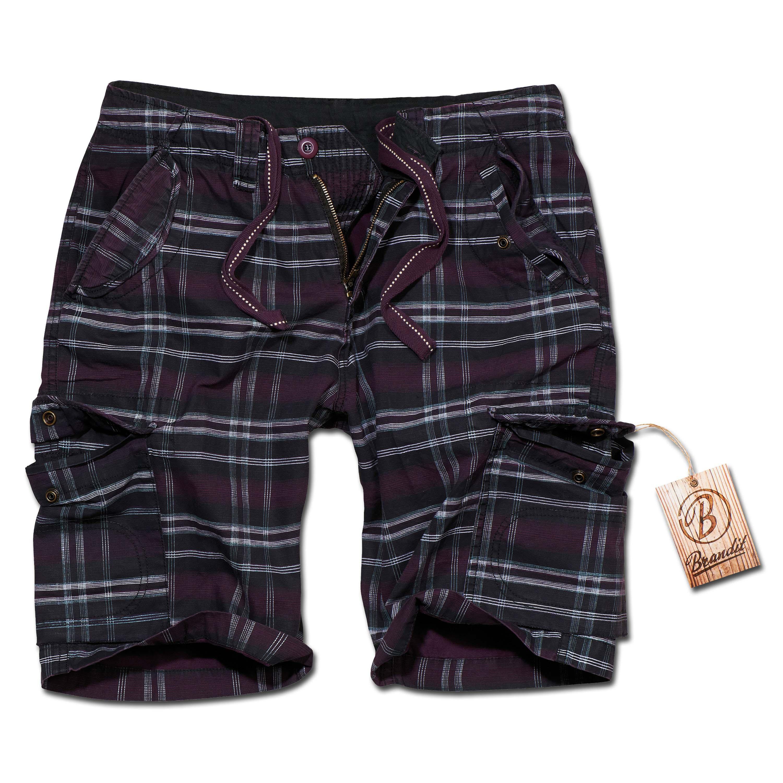 Shorts Brandit Iron Vintage violetas a cuadros