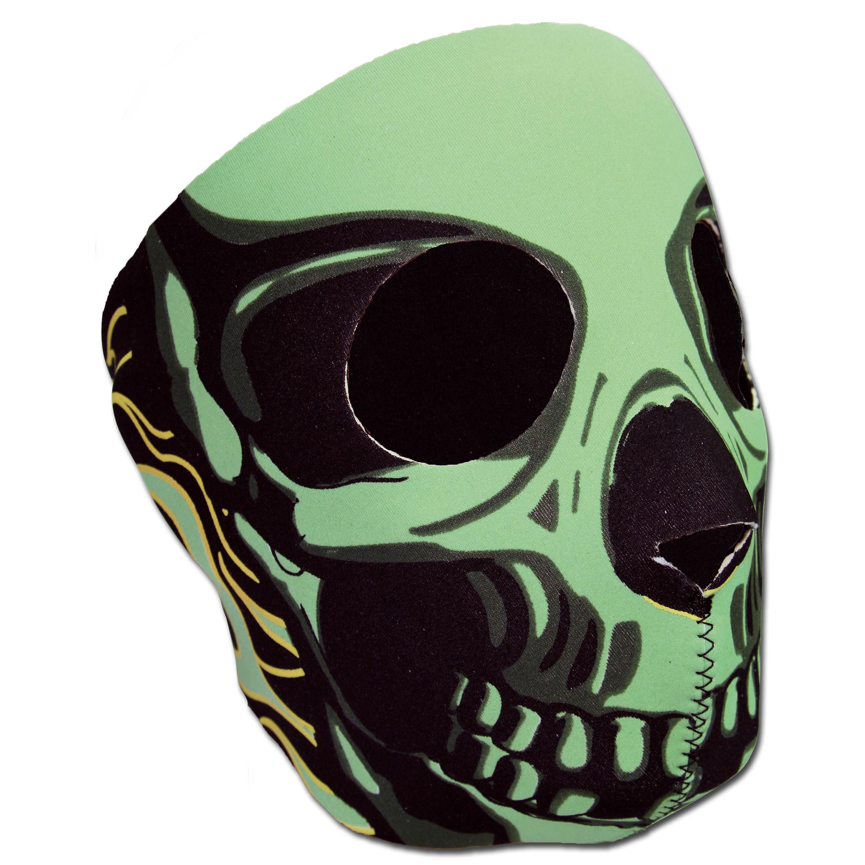 Máscara completa de neopreno Skull verde
