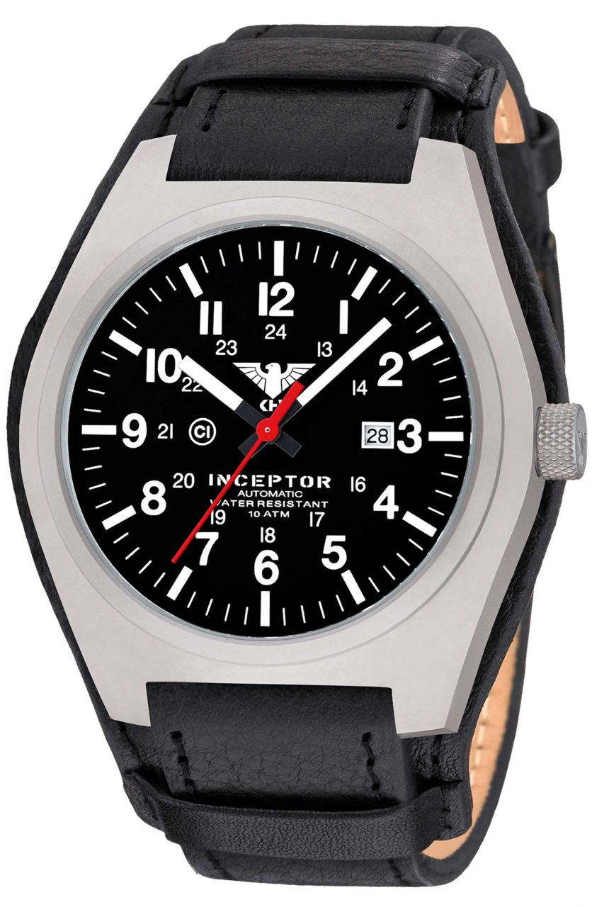 Reloj KHS Inceptor Steel Automatic correa cuero G-Pad negra