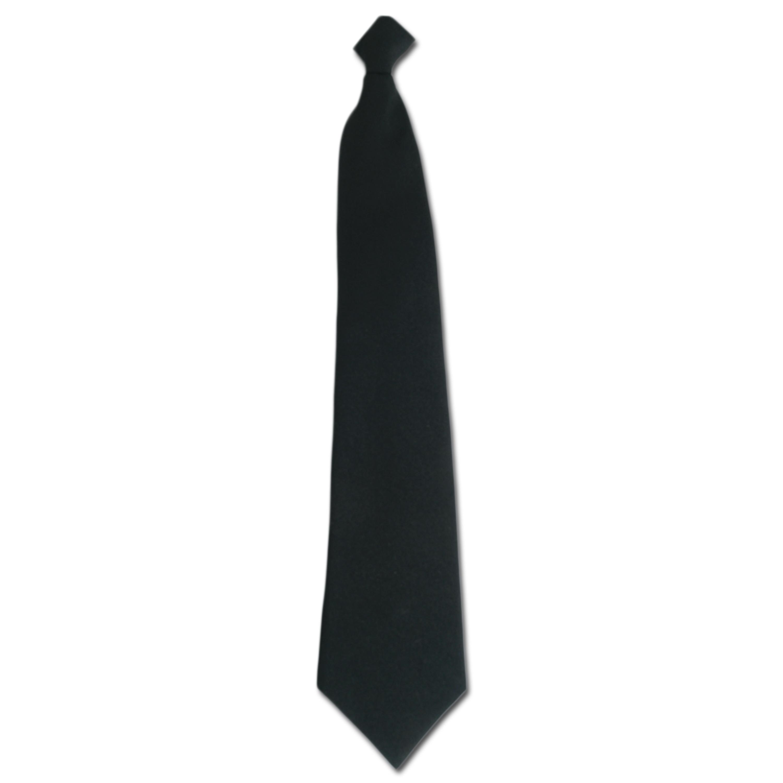 Corbata de trabajo para seguridad negra con clip