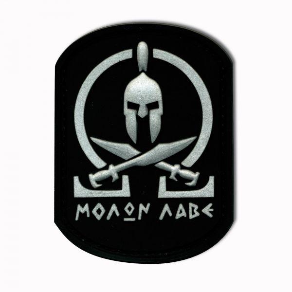 Parche - 3D Molon Labe Spartan negra