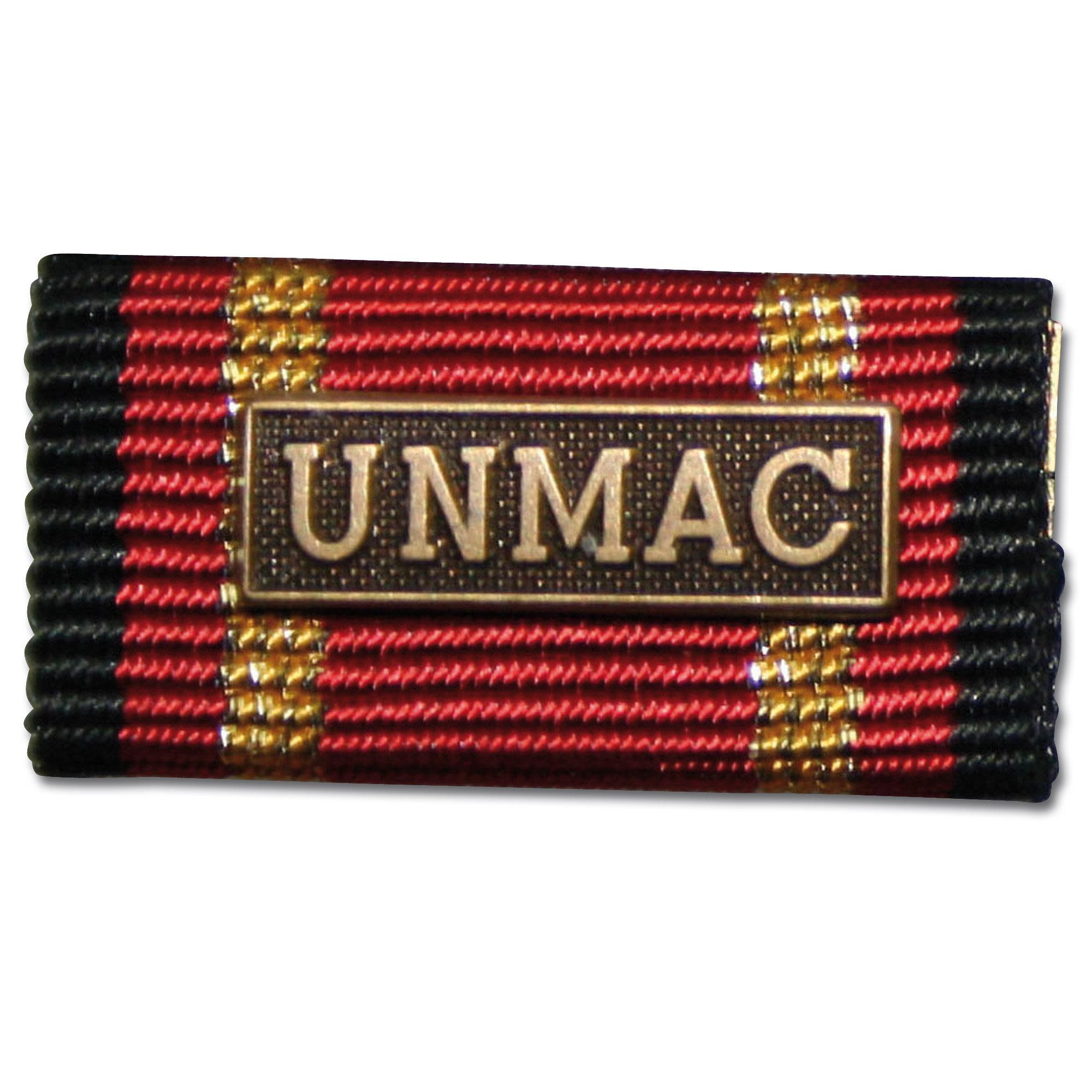 Placa de la orden por misiones en el extranjero UNMAC bronce