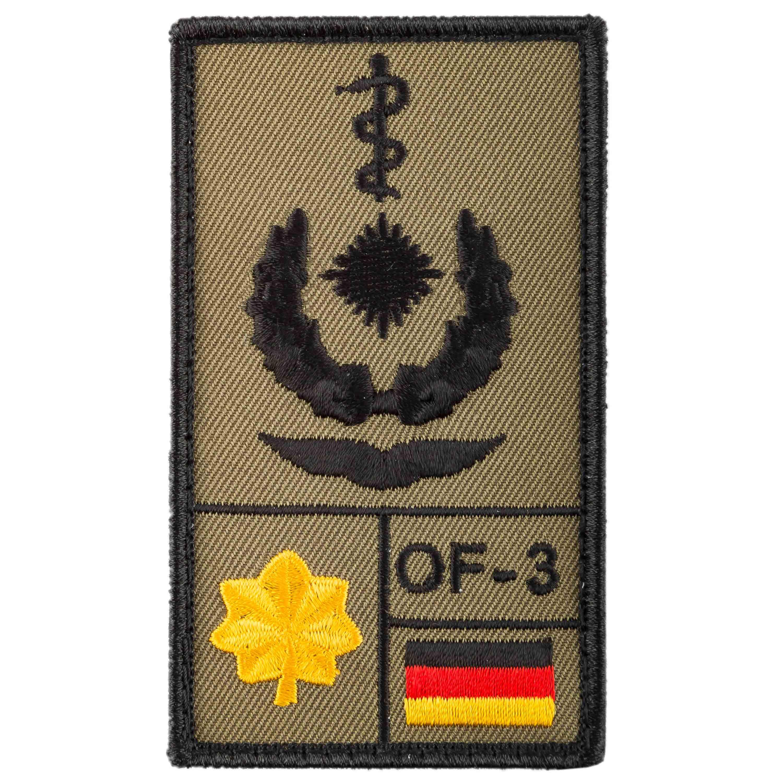 Parche de rango Café Viereck Oberstabsarzt Luftwaffe sand