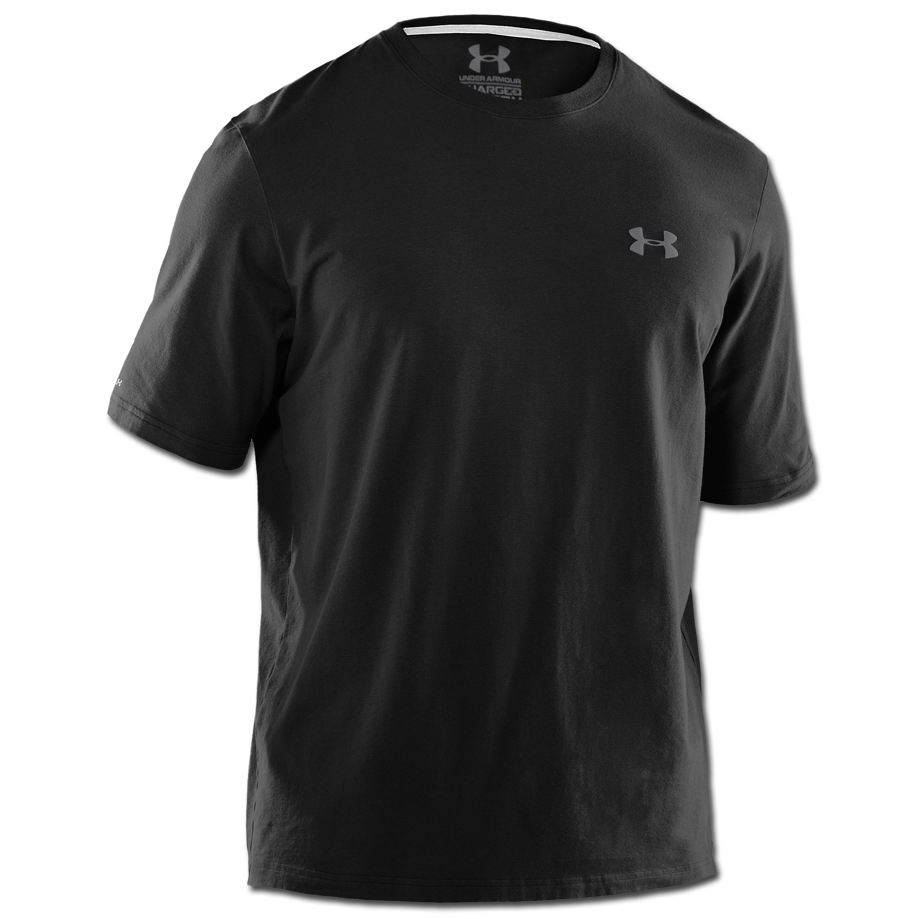 Camiseta Under Armour HeatGear Charged Cotton negra