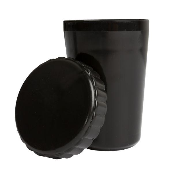 Recipiente con tapa negro