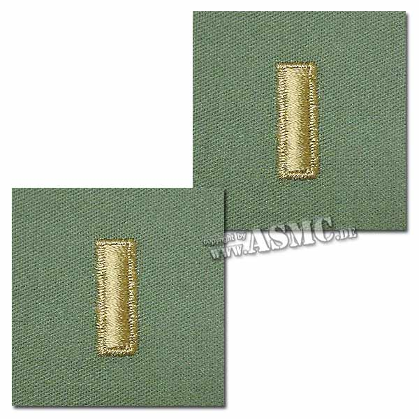 Distintivo textil de rango US 2nd Lieutenant verde oliva