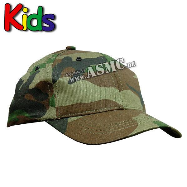 Gorra de béisbol para niños woodland