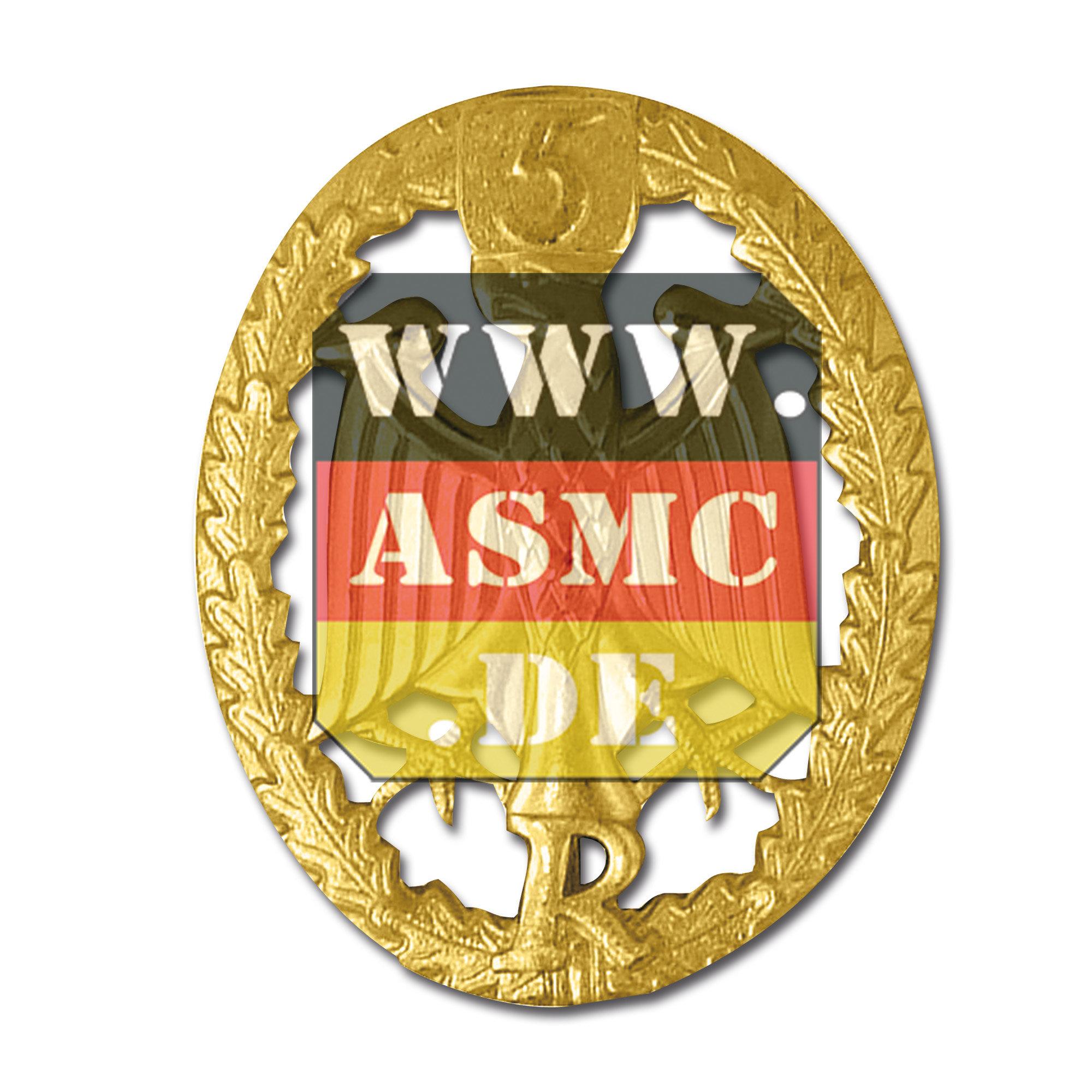 Insignia metálica Reservisten-Reservista dorado con N°5