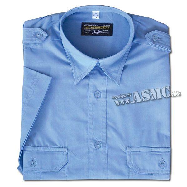 Camisa de servicio mangas cortas azul