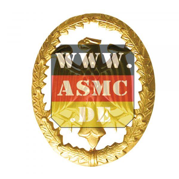 Distintivo de servicio metal dorado