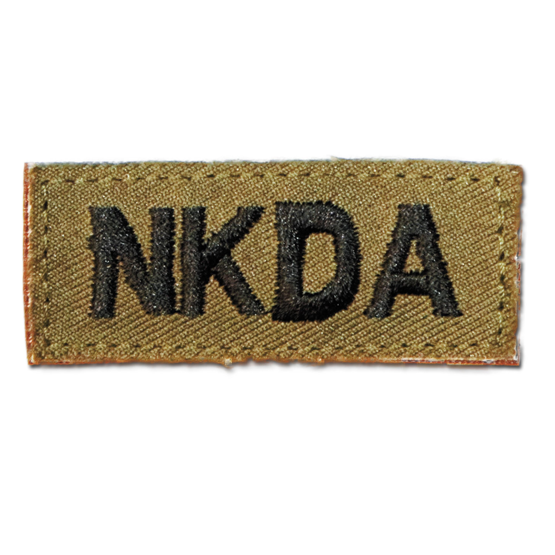 Insignia para ropa NKDA velcro caqui