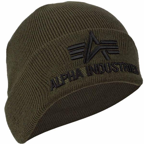 Beanie Alpha Industries 3D dark green