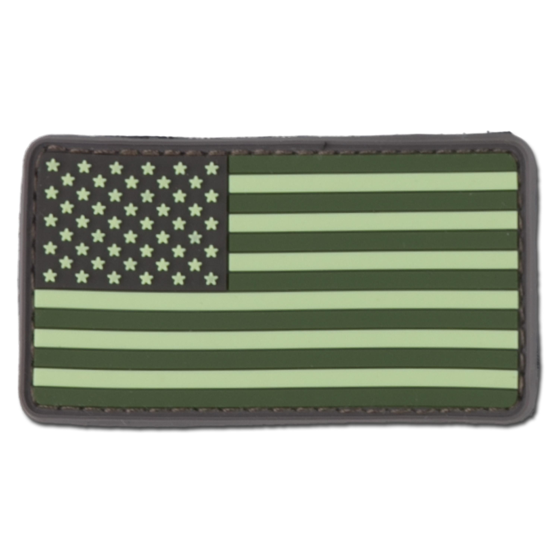 Parche 3D US Flag forest green