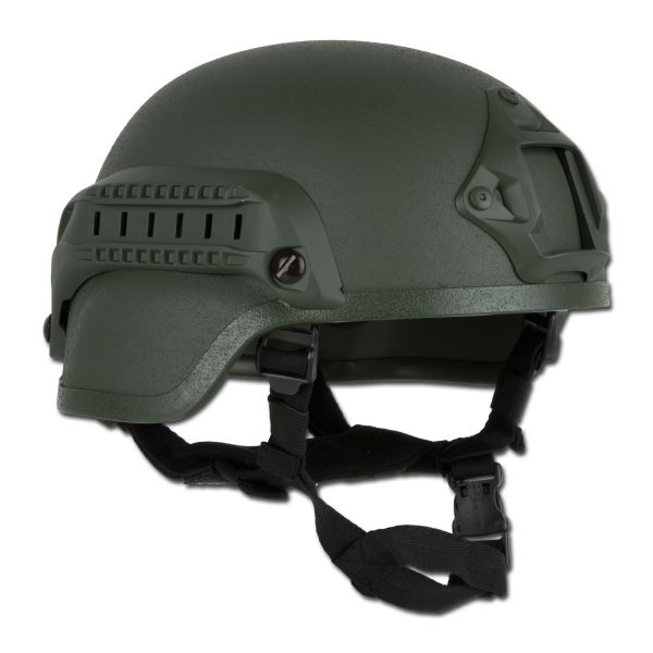 Casco de combate MICH 2000 NVG Mount and Siderail verde oliva