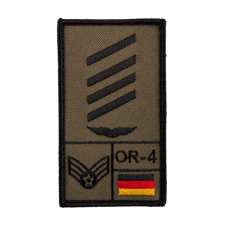 Parche Café Viereck Rank Stabsgefreiter Luftwaffe verde oliva