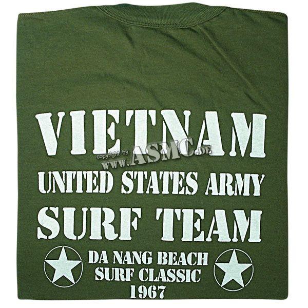 Camiseta Vietnam Surf Team verde oliva