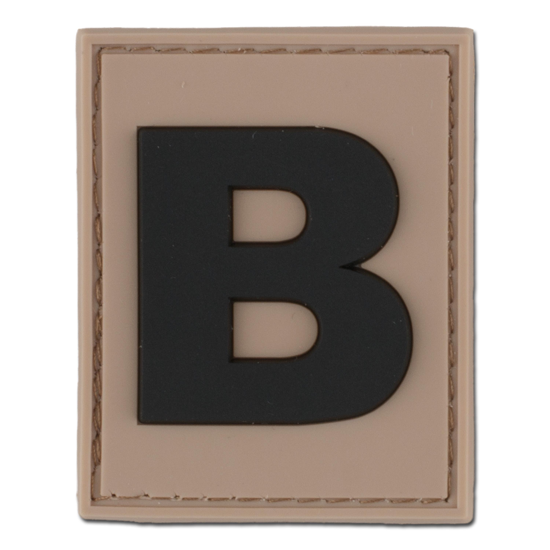 Parche ID- 3D letra B desert