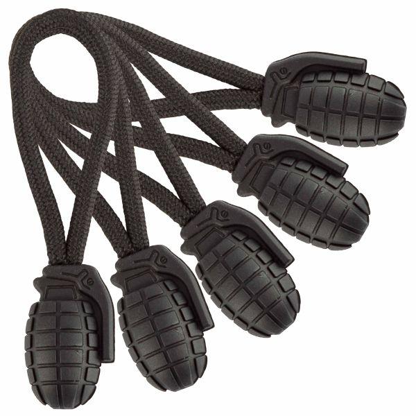 Mil-Tec Tiradores Ring Puller Pineapple - set de 5 uds. negro