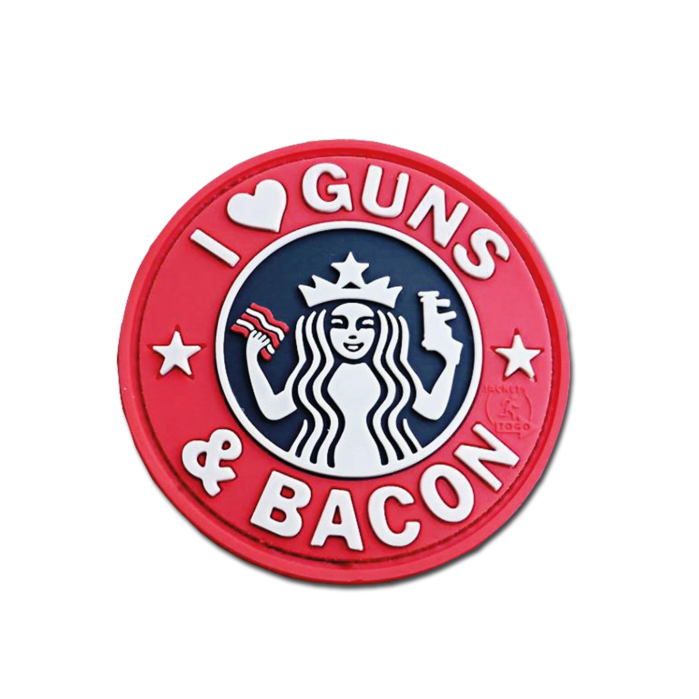 Parche 3D JTG Guns and Bacon a colores