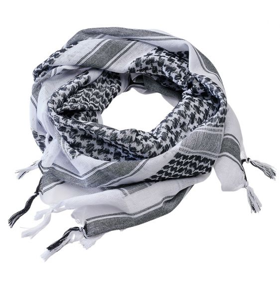 Brandit pañuelo Shemag Scarf blanco negro