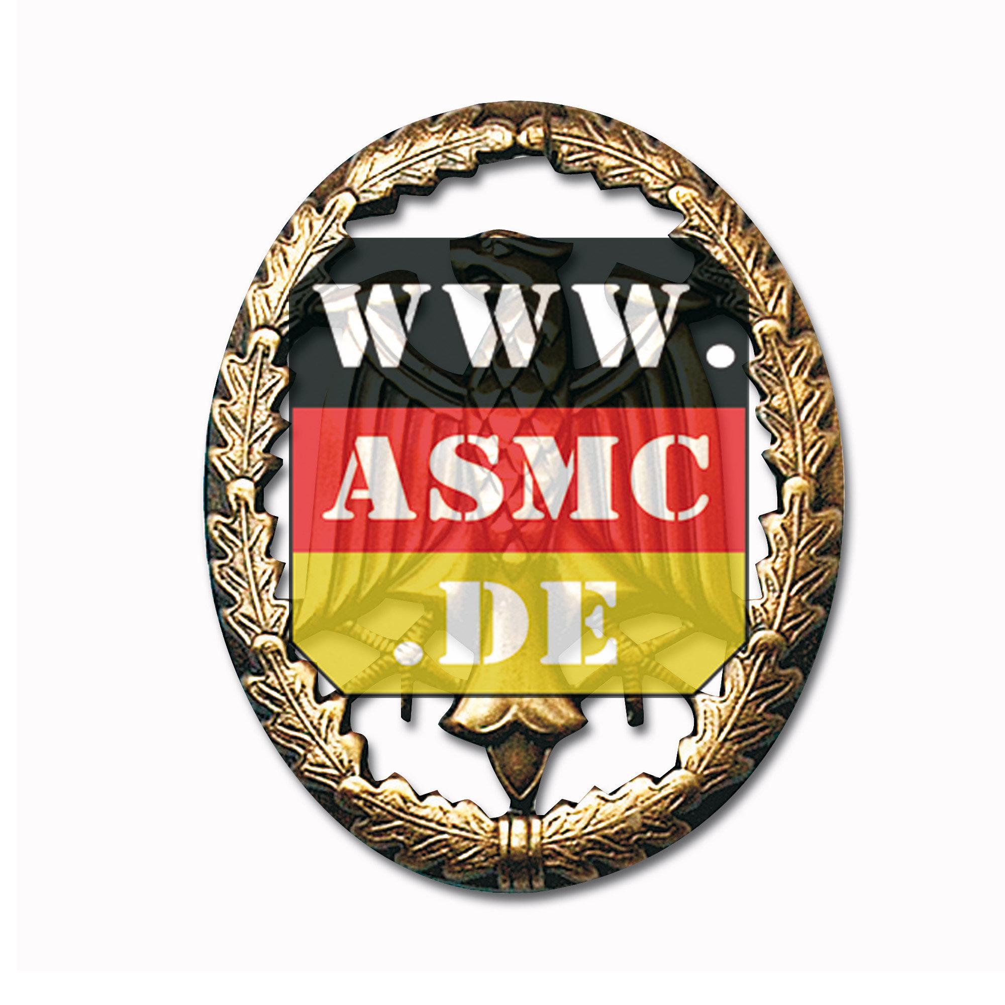 Distintivo de servicio metal bronce
