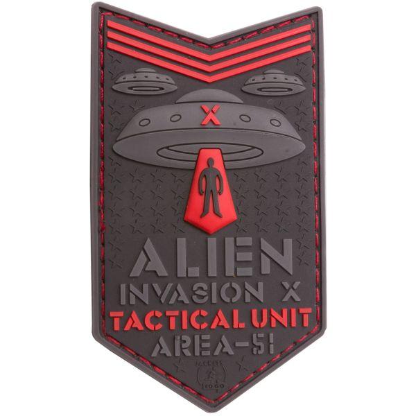 Parche - 3D JTG Alien Invasion X File Tactical Unit rojo