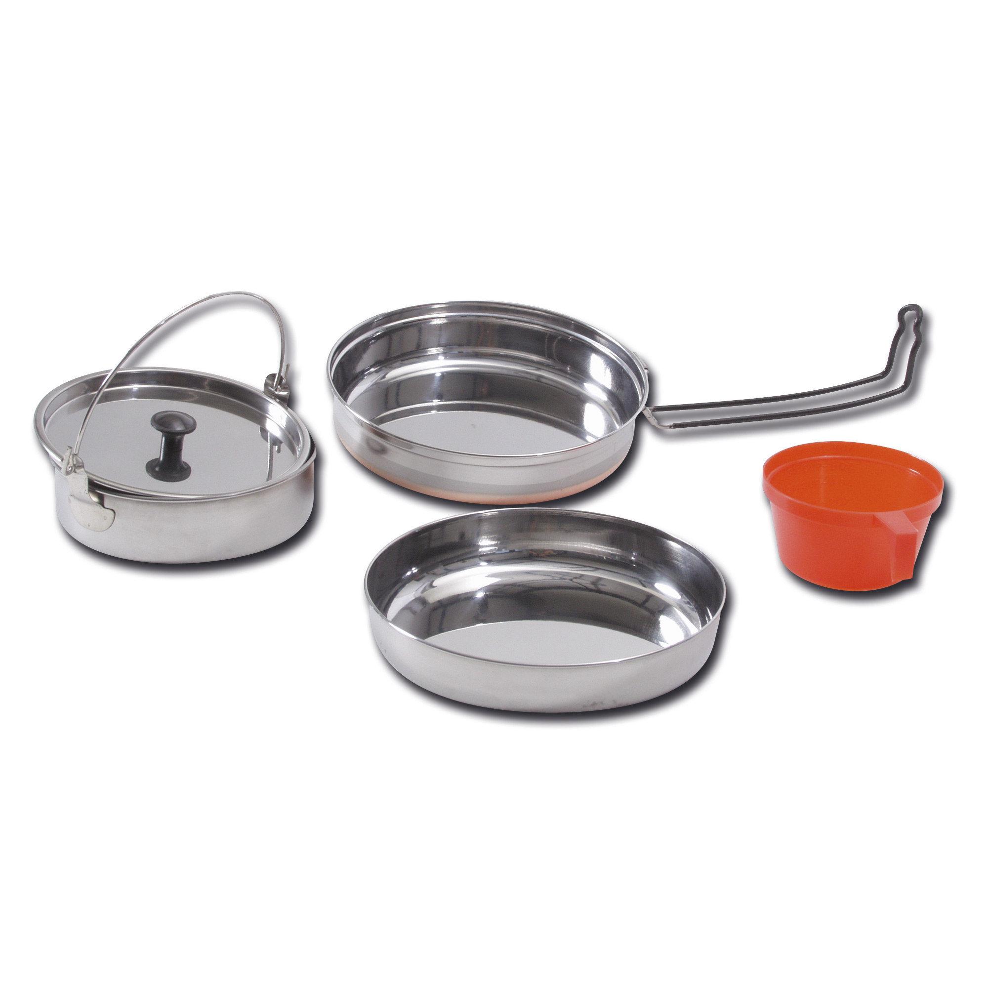 Set de cocina - acero inoxidable para 1 persona