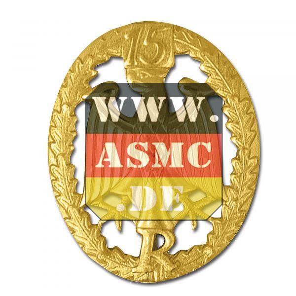 Distintivo metálico de servicio Reservisten dorado N&uac