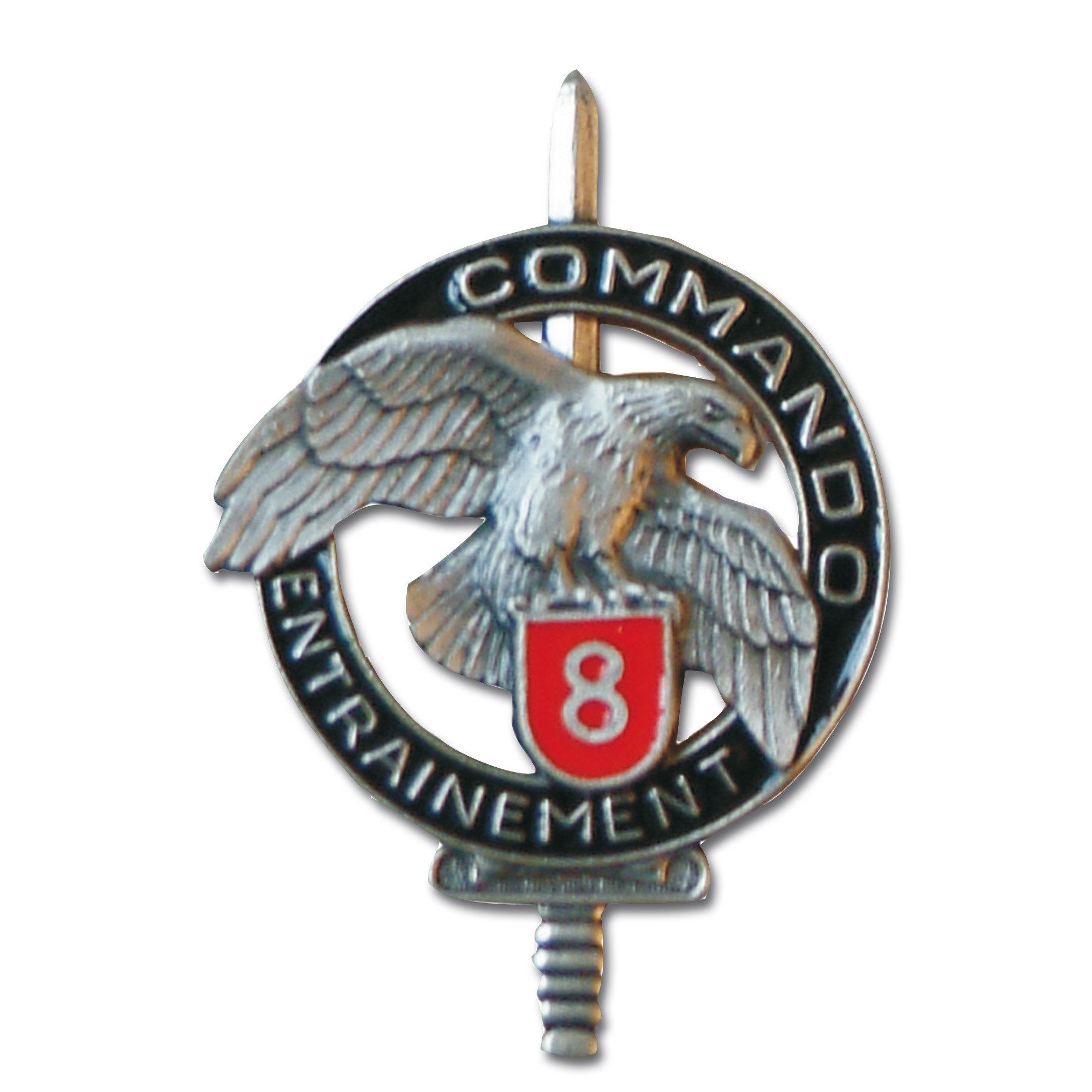 Insignia francesa Commando CEC 8
