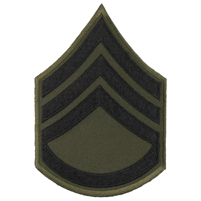 Distintivo textil de rango US negro Staff Sergeant
