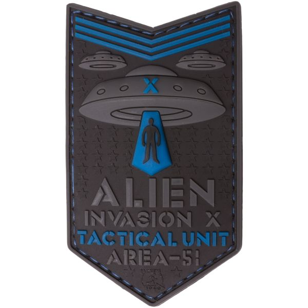 Parche - 3D JTG Alien Invasion X File Tactical Unit azul