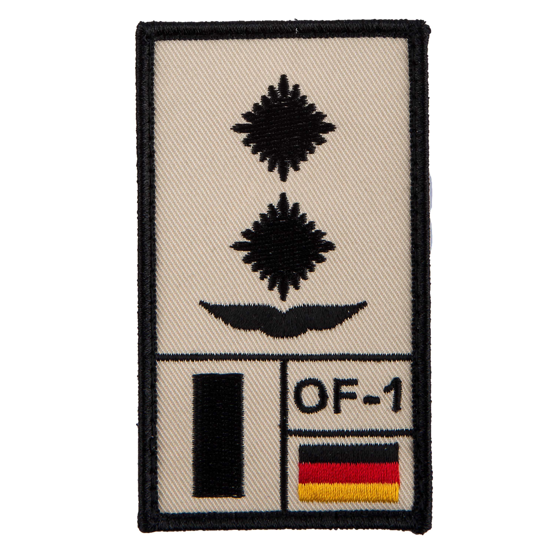 Parche de rango Café Viereck Oberleutnant Luftwaffe sand