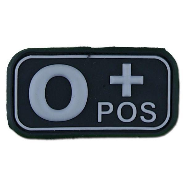 Parche 3D grupo sanguíneo 0 Pos swat