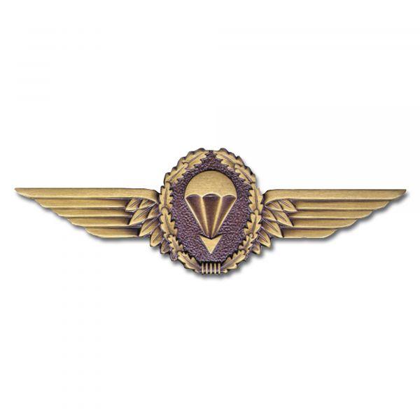 Distintivo de paracaidismo BW de metal - bronce