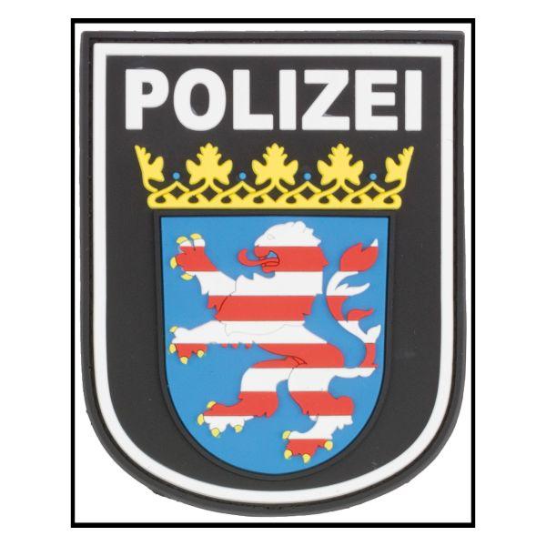 Parche - 3D Insignia de brazo Polizei Hessen negro