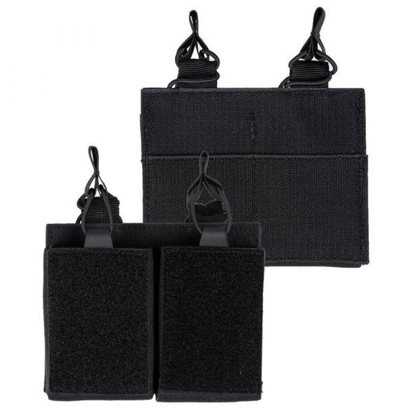 Mil-Tec Portacargador Double con velcro posterior negro