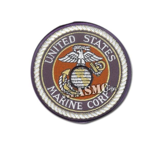 Insignia textil US USMC circular azul-blanco-rojo