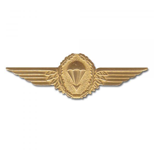 Distintivo BW paracaidismo dorado metal