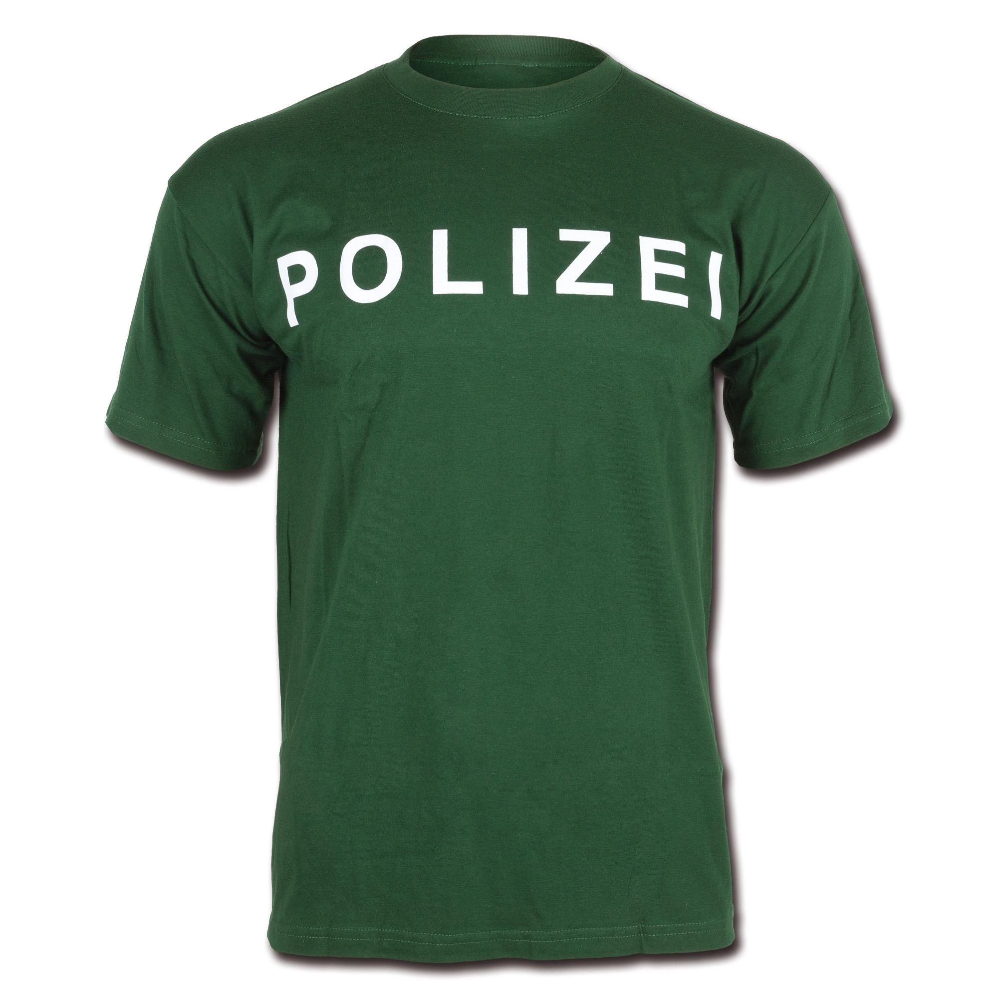 Camiseta Polizei verde