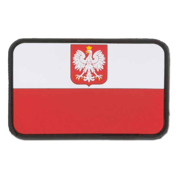 Parche 3D bandera Polonia con escudo a colores