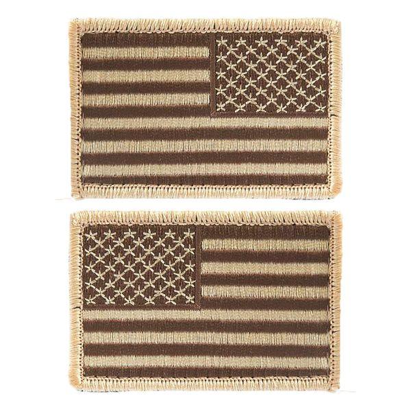 Insignia bandera US con velcro desert