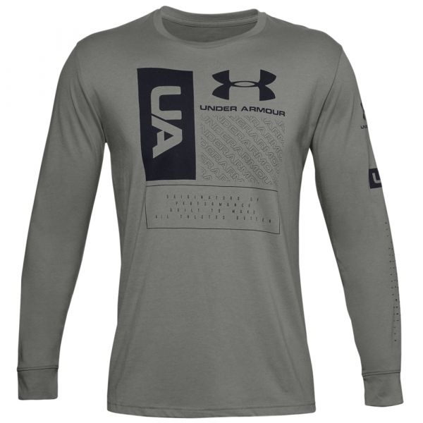 Camiseta Under Armour Multi Logo LS gravity green