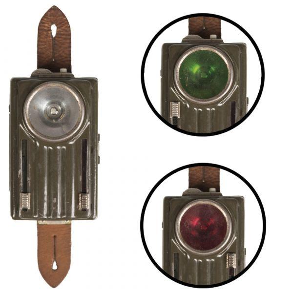Linterna polaca 3 colores lengüeta de cuero oliva usado