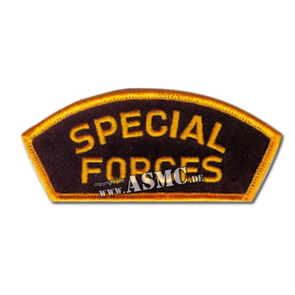 Insignia Special Forces Cap negra-dorada